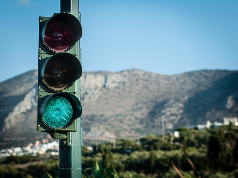 Crete, traffic lights